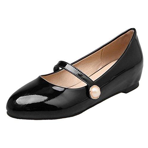 COOLCEPT Damen Mode Mary Jane Flach Pumps Black