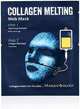 Masqueology - Collagen Melting Web Mask | Brightening Cream and Collagen Mask - Tighten and Firm Skin (1 Pack)