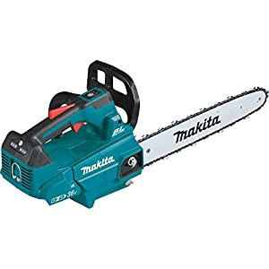 Makita XCU09Z Lithium-Ion Brushless Cordless 18V X2 (36V) LXT 16″ Top Handle Chain Saw, Tool Only, Teal