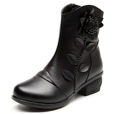 botines para vino negro CN39 tobillo combate US8 botas mujer invierno botas moda rojo otoño azul UK6 de EU39 cuero de botas Zapatos ocasionales RTRY de Nappa botas y qwOn6HaHp