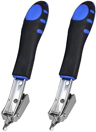 SinoFish ステープルリムーバー ヘビーデューティ プロフェッショナル ネイルプーラー オフィスハンドツール 2パックセット (ブルー)