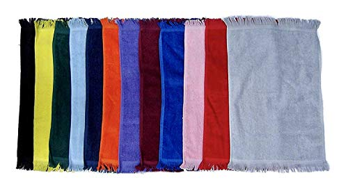 11x18 Fingertip Fringed Towel - Georgiabags 12 Pack Assorted Towels- Cotton Terry Velour Fingertip Golf Hand Towels 11