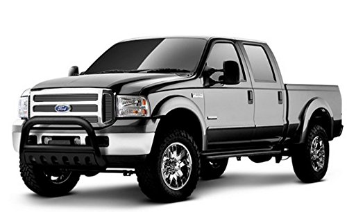 R&L Racing Black Bull Bar HD Steel Brush Push Bumper Grill Guard 1999-2007 for Ford F-25/350/450 SD