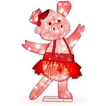 Amazon.com: Ghi - Figura de cerdo hinchable de Navidad (3,5 ...