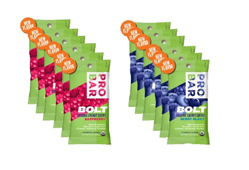 Probar Bolt Organic Energy Chews Bundle Raspberry and Berry Blast - Six of Each Flavor, Box of 12 ...