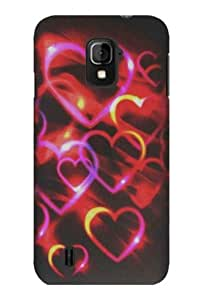 Graphic Rubberized Shield Hard Case for ZTE Majesty - Colorful hearts (Package include a HandHelditems Sketch Stylus Pen)