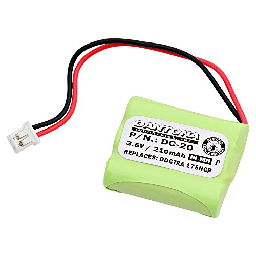 DC-20 3.6V 200mAh battery pack for Dogtra - 202NCP Gold - 2 Dog Model Collar 200 Mah Nickel Metal