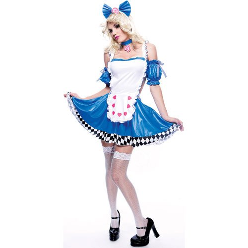 Paper Magic Wicked Wonderland Alice Wicked Costume , Blue/White, Medium