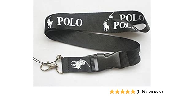 1 X polo black lanyard keychain holder BY H by H
