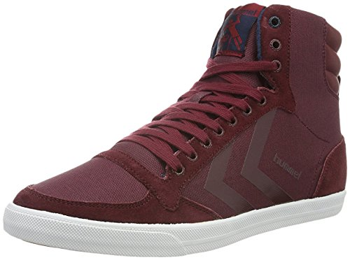 Hummel Slimmer Stadil Smooth Canvas, Zapatillas Altas Unisex Adulto Rojo (Cabernet)