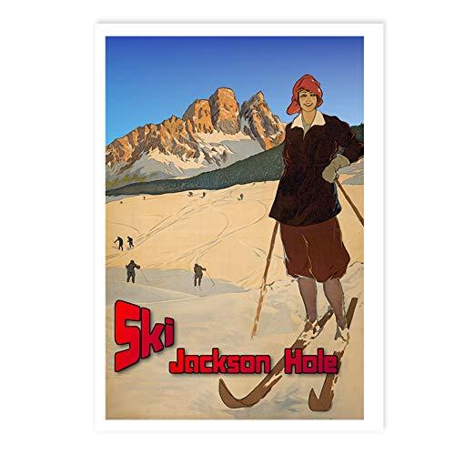 CafePress Ski Jackson Hole Postcards (Package of 8), 6