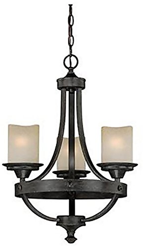 Vaxcel H0136 Halifax 3 Light Chandelier, 18