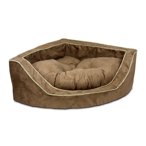 Snoozer Luxury Corner Pet Bed, Large, Coffe/Peat