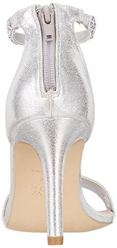 92 Cinturino Tanklet Silver New Scarpe Foot Silver Caviglia Donna alla Look con Wide xwTq71ga