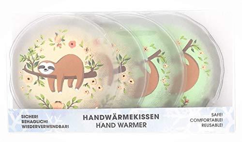 MC-Trend 4er Set Faultier Handw/ärmer Taschenw/ärmer f/ür warme Finger gegen kalte H/ände im Herbst und Winter wiederverwendbar