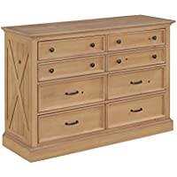 Home Styles 5524-43 Country Lodge Bedroom Dresser, Natural Wood Honey Pine Finish