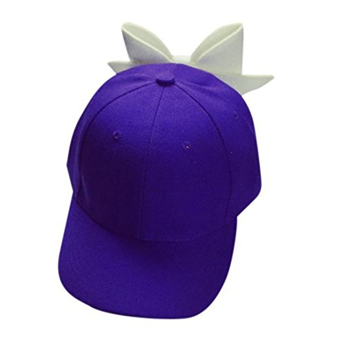 Clearance! Wensltd Women Pure Color Bowknot Hat Hip Hop Cap Flat