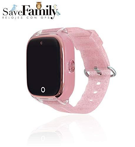 81e8d0048 Reloj con GPS para NIÑOS Save Family Modelo Superior ACUÁTICO con Camara  Color Rosa Glitter: Amazon.es: Relojes