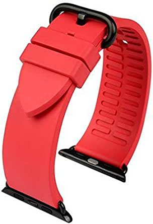 watch Band for apple 38mm rubber Orange color