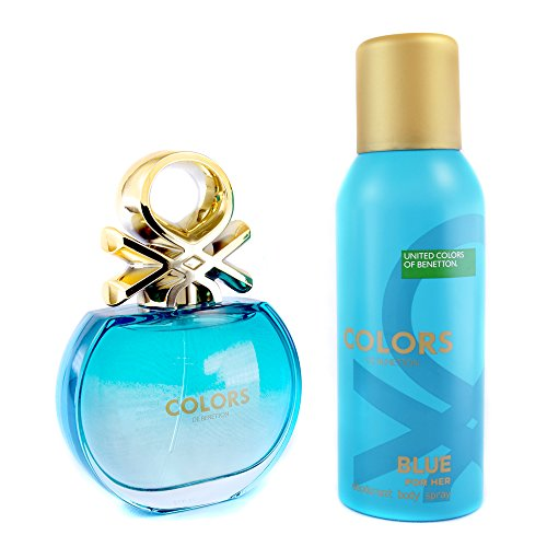Kit Perfume Colors Blue Feminino Eau de Toilette 80ml + Desodorante 150ml 80ml