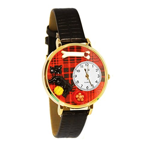 Whimsical Watches Unisex G0130067 Scottie Black Leather Watch