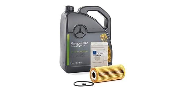 Recambios ORIGINALES Mercedes-Benz Aceite motor MB 229.51-5 litros + Filtro A6401800109 (Mercedes Clase A W169 + Clase B W245) motores CDi: Amazon.es: Coche ...