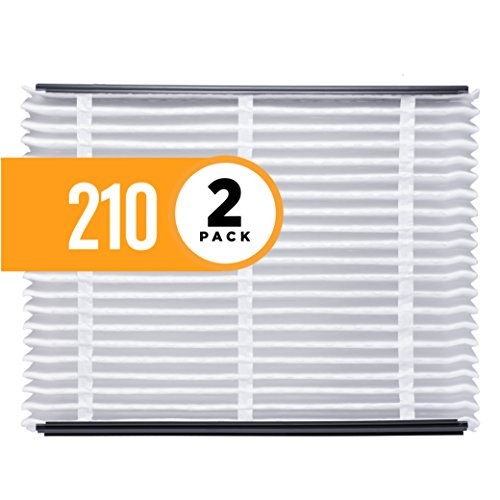 Aprilaire 210 Clean Air Filter for Aprilaire Whole-Home Air Purifiers, MERV 11, For Dust (Pack of 2)