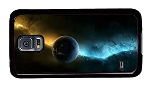 Hipster brand new Samsung Galaxy S5 Cases Space Planet Aurora PC Black for Samsung S5