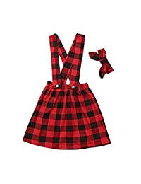 Miwear Kids Baby Girls Plaid Backless Ruffle One-Pieces Jumpsuit Playsuit Outfit