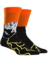 Sock It To Me Men's Crew Socks,Frankenstein's Sockster,One Size