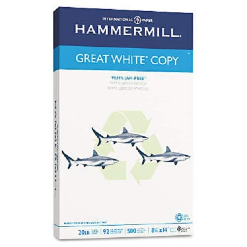 Hammermill - Great White 30% Recycled Copy Paper, 20lb, 92 Bright