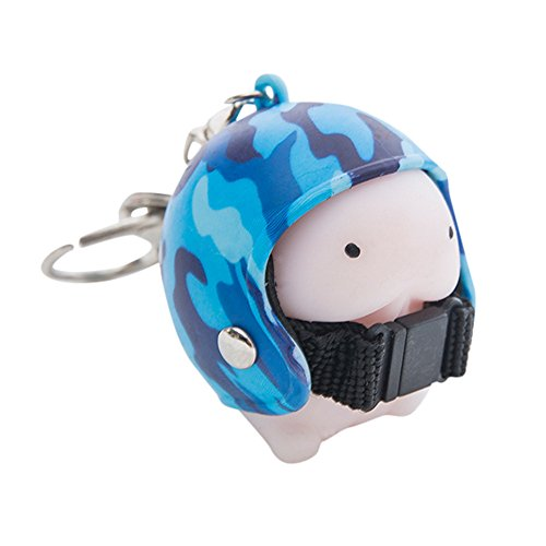 - callm Squeeze Helmet Toy Cute Keychain Stress Reliever Prank Toy - Bag Purse Charm Key Chain - Fashion Accessory Gift