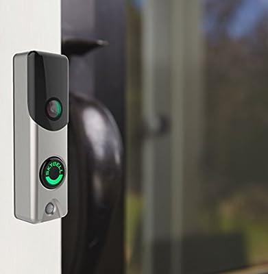SkyBell Slim Line Wi-Fi Doorbell Camera - Silver