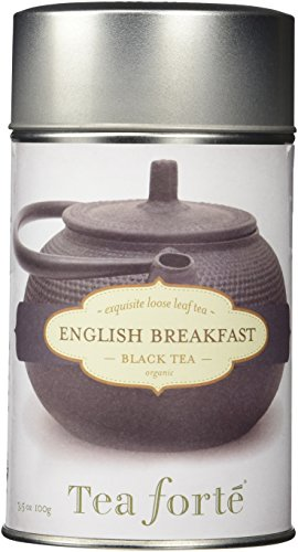 Tea Forte ENGLISH BREAKFAST Organic Loose Leaf Black Tea, 3.5 Ounce Tea Tin