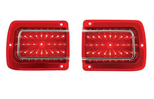 1965 Chevelle / 1965 Malibu LED Tail Lights w/ Trim and Lens - Chevelle Tail Lens