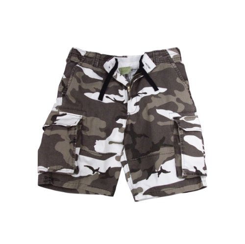 Men's Shorts - Vintage Camo Cargo City Shorts (XS-XXXL, Camouflage) By Rothco