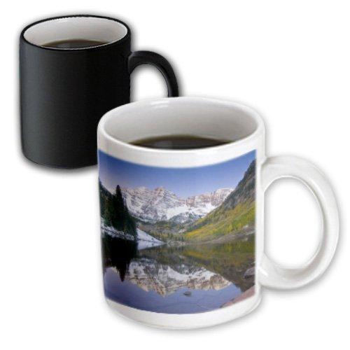 Aspen Coffee (3dRose Colorado, Rocky Mountains, Aspen, Maroon Bells - Us06 Dsv0050 - David Svilar - Magic Transforming Mug, 11oz. (mug_88901_3))