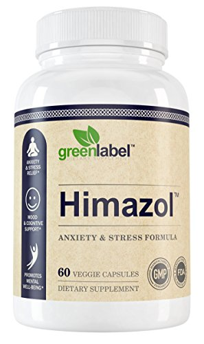 HIMAZOL Anxiety Relief & Stress Support, Calming & Soothing, Includes L Theanine, Ashwagandha, Rhodiola, Chamomile, Valerian.