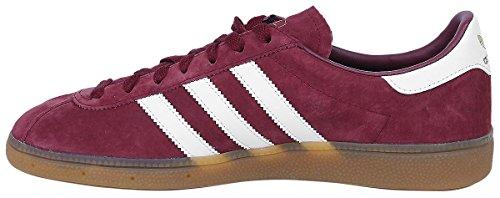 adidas Men's München Low-Top Sneakers Burgundy, White, Gum