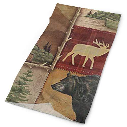 Ciuaole Bear Moose Deer Sports Seamless Tube Headwear Bandana Multifuntion Magic Scarf 25 x 50 cm ()