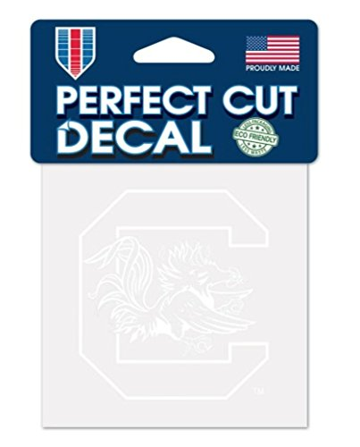 WinCraft NCAA South Carolina Fighting Gamecocks 4x4 Perfect Cut White Decal, One Size, Team Color