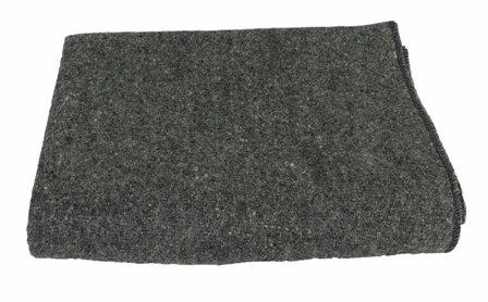 Kakaos 50% Recycled Wool Yoga Blankets (Gray)