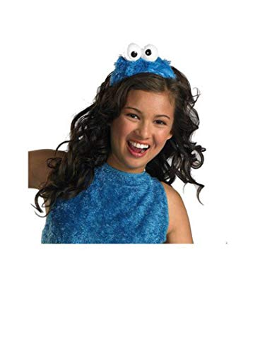 Cookie Monster Halloween Costume Female (Disguise Women's Sesame Street Cookie Monster Adult Costume Headband, Blue, One)