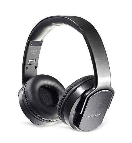 SODOLIFE 2 in 1 Bluetooth Headphone Over-Ear and W...