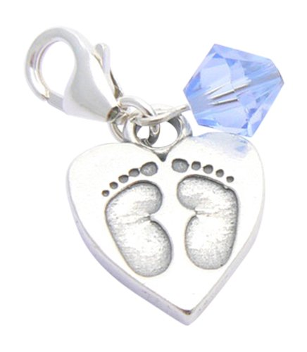 Boys Christening Gift - Sterling Silver Baby Feet Charm Occasions Emporium