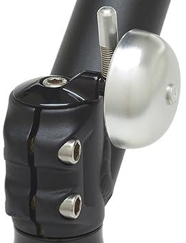 Mirrycle Incredibell Spring Bike Bell, Silver, 1 1/8 Inch Cycle Bells