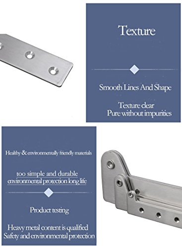 KFZ Upper and Lower Hinges Cupboard/Cabinet Door Hinges 7-Shape Head Concealed Hings 180 Degree Rotating Hinge JD-DJPF12 Hardware Accessories (10,L) by KFZ (Image #6)