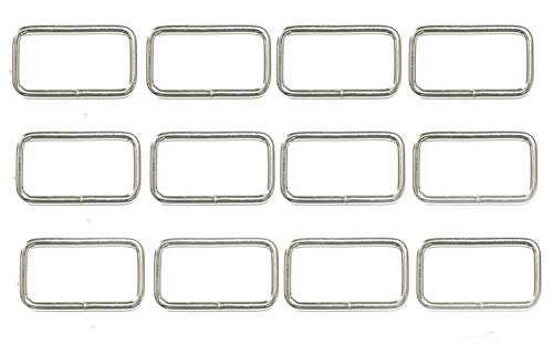 ALL in ONE Metal Bag Purse Snap Hook Rectangle Rings Webbing Belts Buckle (25mm / 1 inch - - Ring Rectangle
