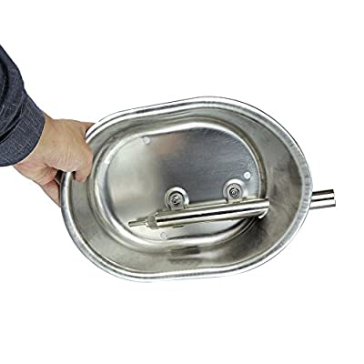 """Livestocktool 1/2"""" Stainless Steel Automatic Pig Waterer Hog/Sow Water Bowl with Nipple Drinker Large"""