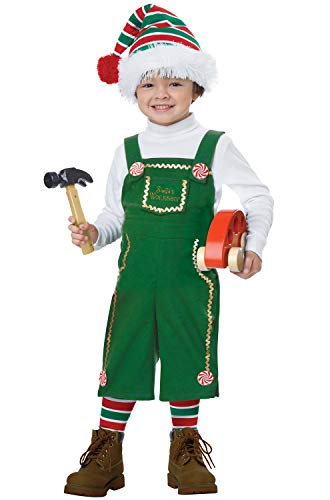 California Costumes Jolly Lil' Elf Toddler Costume, Green, M (3-4) -